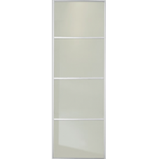"SOFT WHITE GLASS SLIDING WARDROBE DOOR 4 PANEL 762mm (30"")"